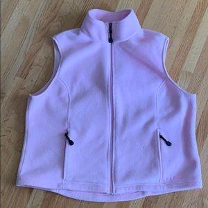 LL Bean Fleece Vest XL Pink